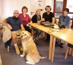 The Our Lewes interview team including Sabin the Guide Dog